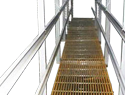 Pultruded FRP Interior Access Walkway w/ 304 SS hardware
